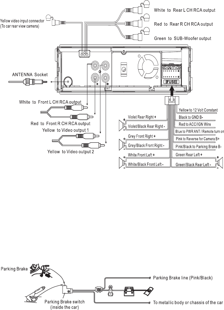 boss bv9976b wiring diagram boss image wiring diagram boss audio systems car video system bv7300 manual page 7 of 28 on boss bv9976b wiring