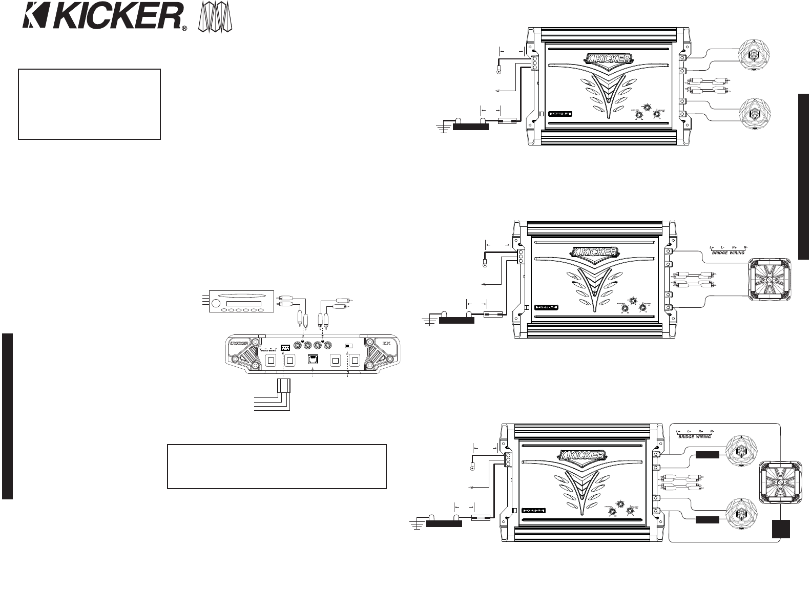 kicker amp wiring diagram   25 wiring diagram images