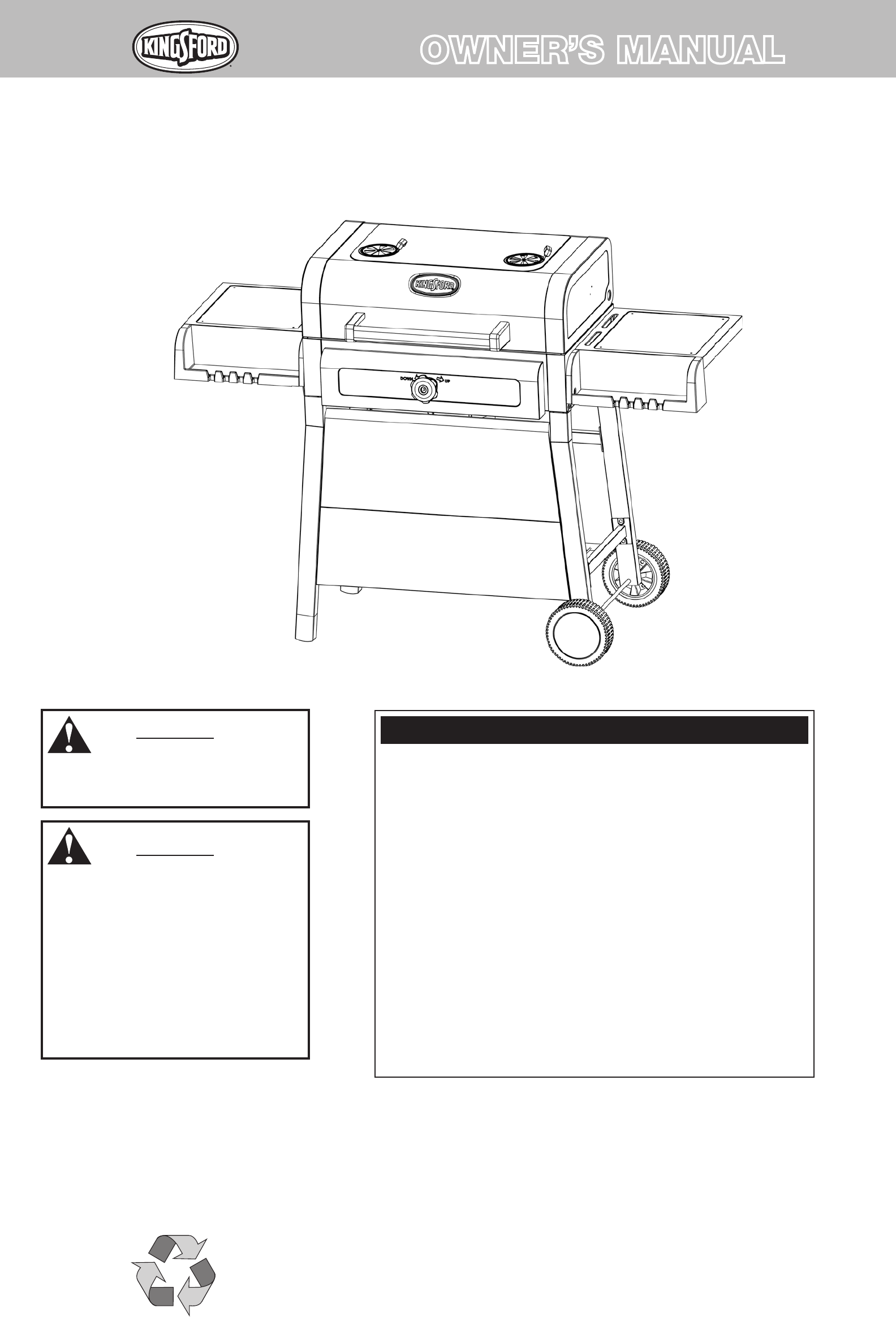 Download Kingsford Charcoal Grill CBC1042W manual and user ...